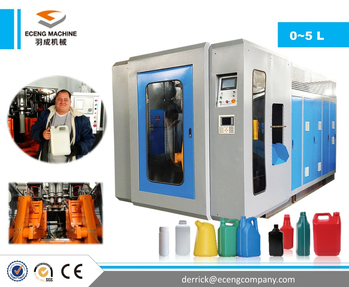 Double Station Extrusion Blow Molding Machine , Plastic Drum Making Machine
