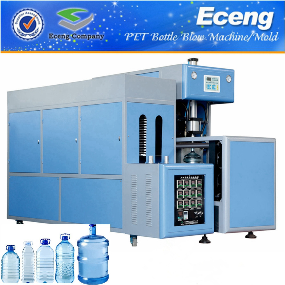 Industrial 5 Gallon Semi Auto Blowing Machine , Blowing Machine For Pet Bottles
